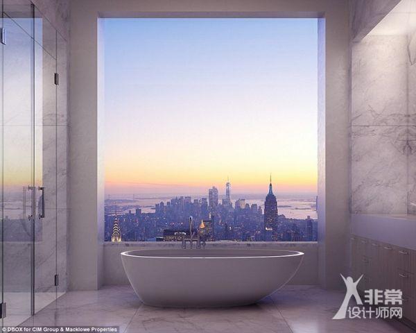 396英尺高的公园大道432号成为了西半球最高的住宅楼,呈现了建筑,设计图片