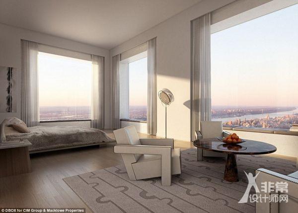 西半球最高的住宅建筑:公园大道432号大厦完成封顶图片