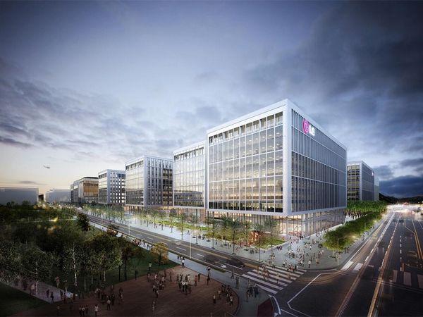 lg科技园坐落在首尔麻谷区,为支持创新研究和工业原型设计提供了图片