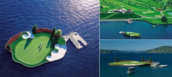 全球唯一能漂浮于水的高尔夫球场