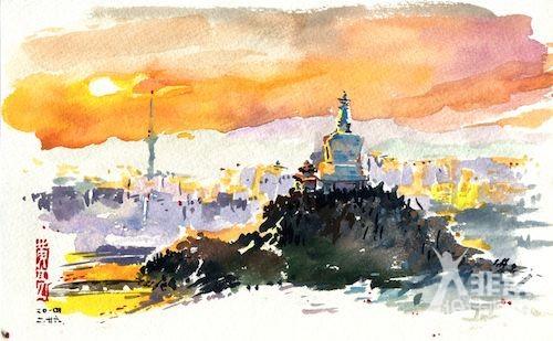 黄亮手绘北京