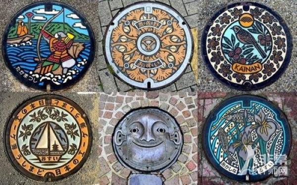 日本街头的创意涂鸦井盖 - 非常设计图片