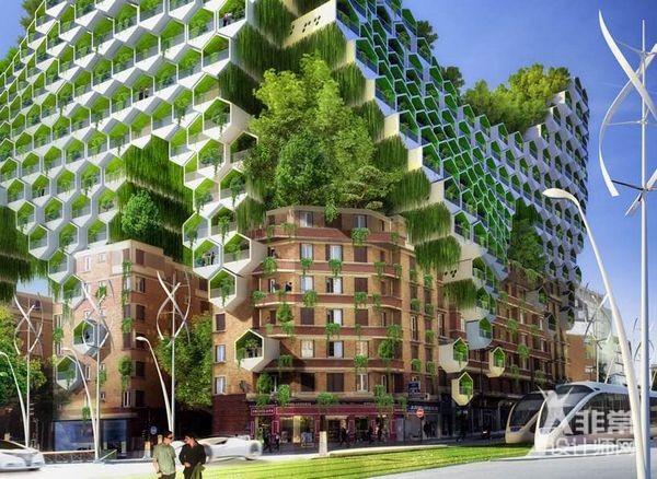 法国未来智能建筑群景观概念设计图片