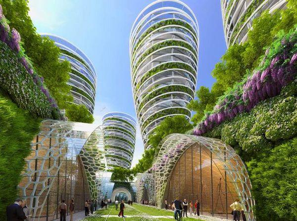 法国未来智能建筑群景观概念设计