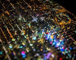用生命拍摄出的夜光地图