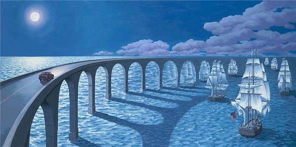 绘画艺术:Rob Gonsalves的创意错觉绘画