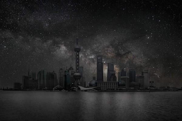 当城市没有污染 天空繁星璀璨
