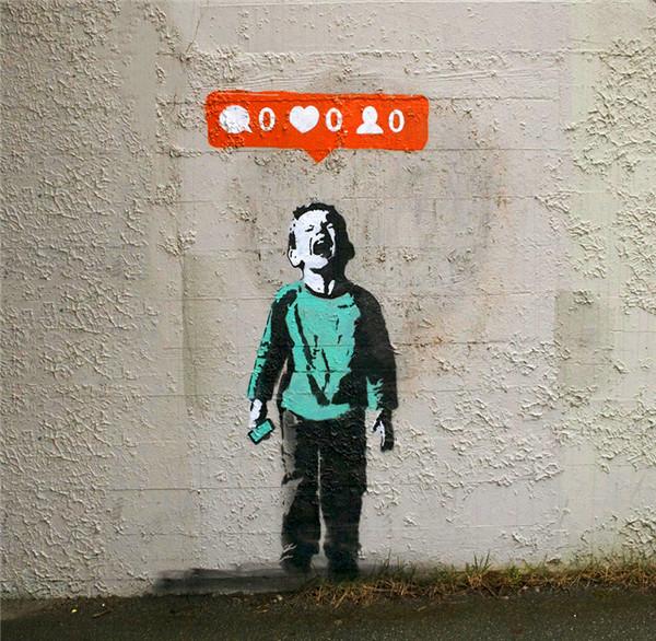 加拿大街头涂鸦彰显社交媒体文化