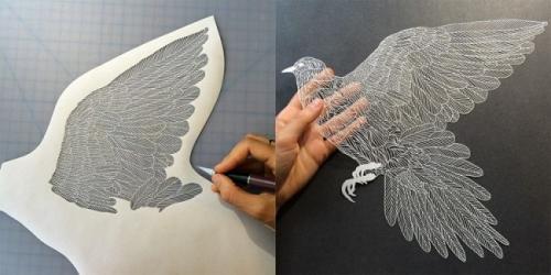 薄如蝉翼 精致的纸雕艺术