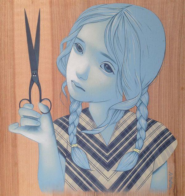 美国艺术家Sean Mahan:在木板上绘制优雅的肖像