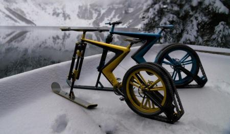 混合式雪地自行车