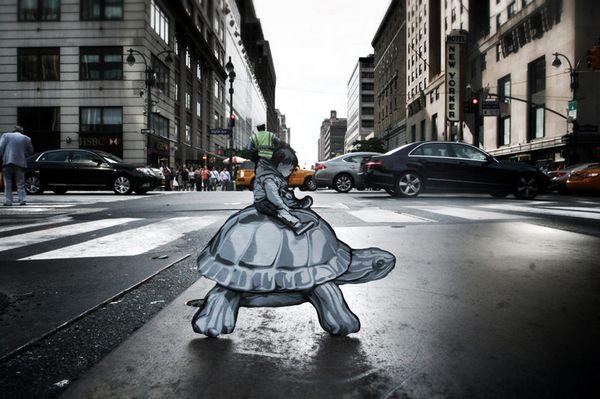 微型街头艺术讲述城市生活故事
