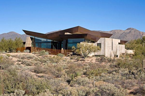 厚重而又不失轻盈的沙漠之翼住宅