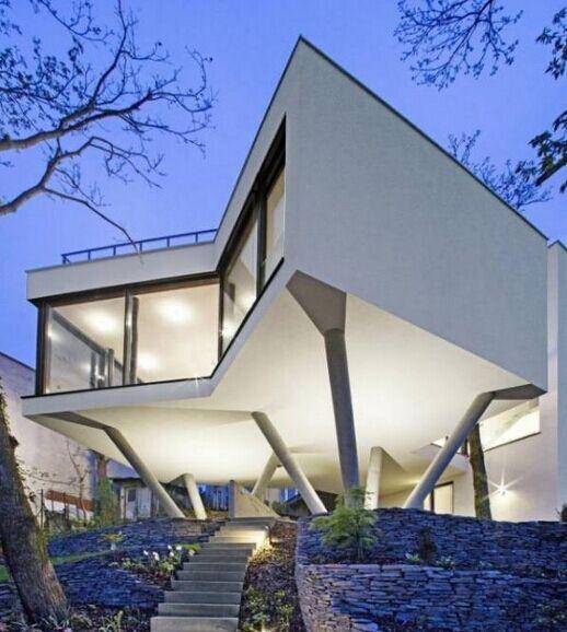 灵感来自图根哈特别墅的三棵树住宅