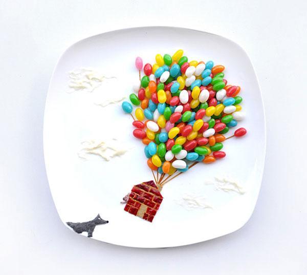 美女艺术家康怡富有创意的食物绘画
