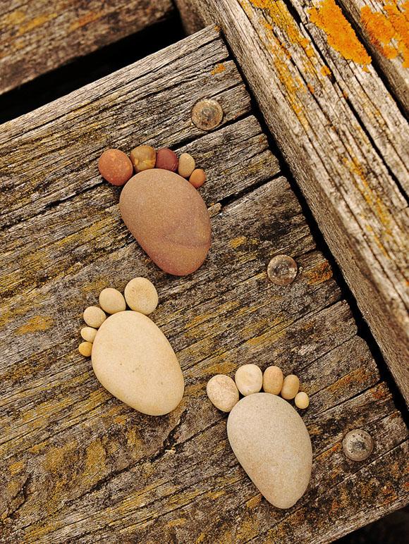 一个有趣的拍摄项目:石头足迹