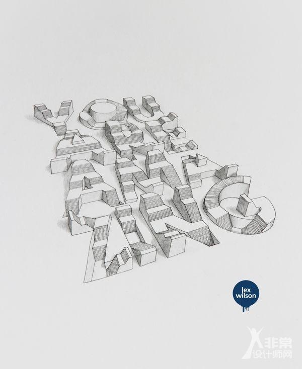 英文字母創意字體設計欣賞