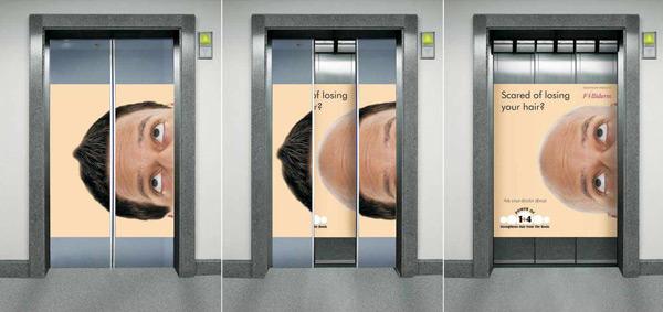 【欣赏】电梯创意广告设计