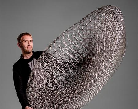 世界上最复杂的全3D打印躺椅 重量只有2.5公斤