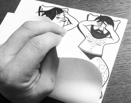 Husk Mit Navn插画与现实的碰撞艺术