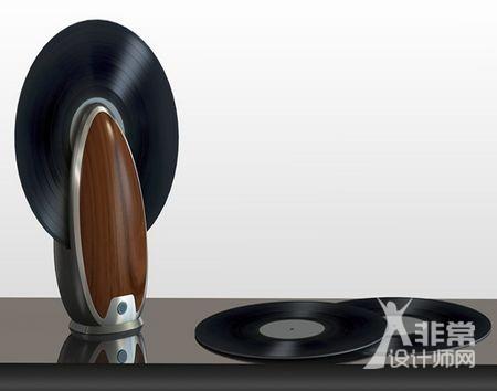 让唱片竖起来播——TOC 黑胶唱片垂直播放器