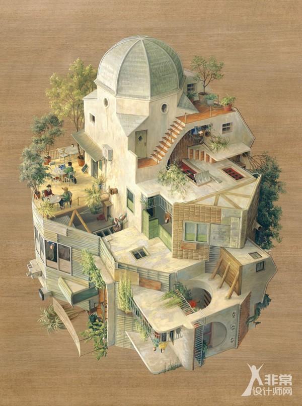 Cinta Vidal绘画作品:引力