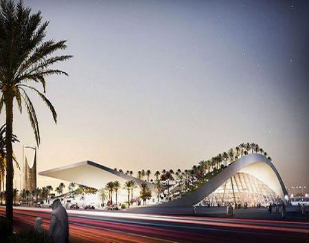 沙特阿拉伯王国首都奥拉亚沙丘型地铁站