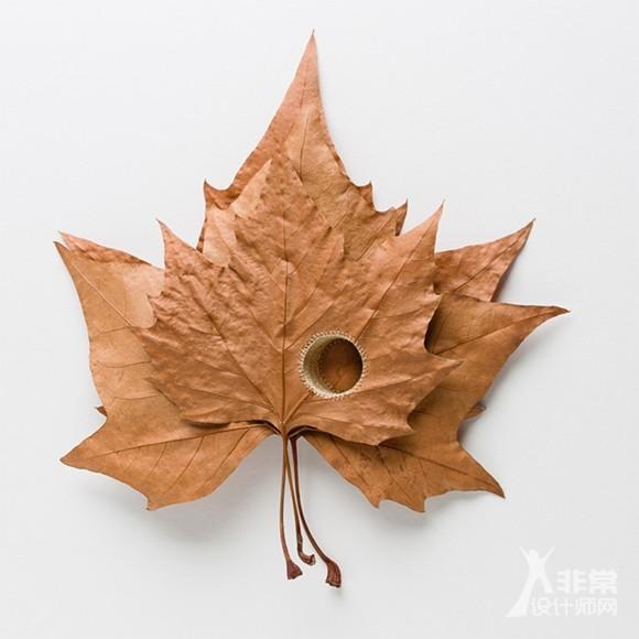 在一碰就碎的干叶子上编织?别问我她是怎么做到的