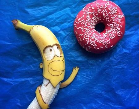有创意,香蕉也能变成艺术品!