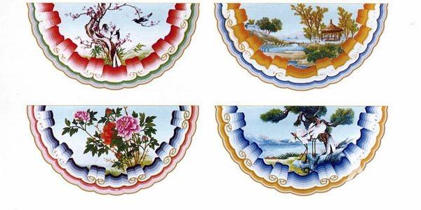 北京颐和园苏式包袱彩画图片