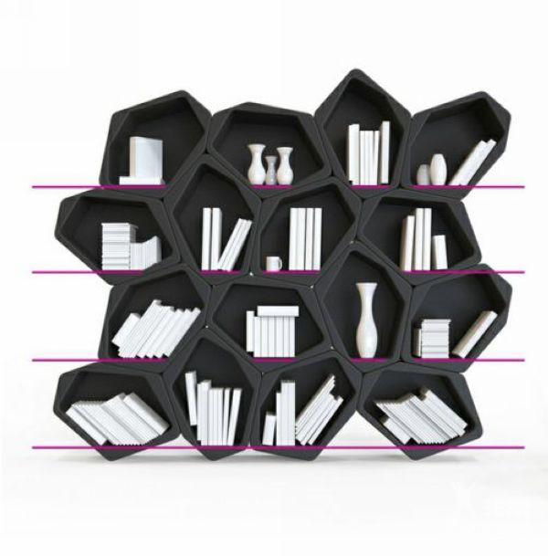 build模块化搁架系统的基本结构为一个六边形盒子,单一的盒子