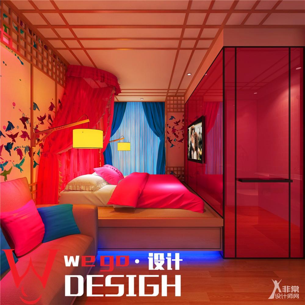主题酒店设计-郑州半夏拾光情侣主题酒店设计图说明