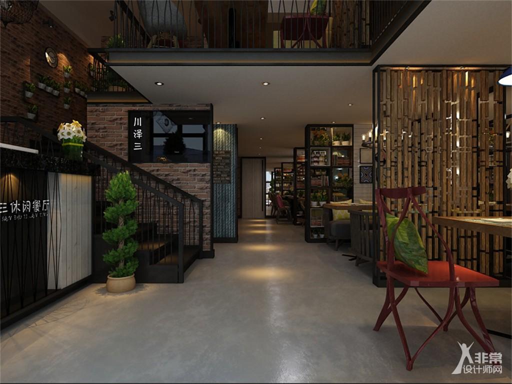 不看会后悔的沈阳川泽三休闲主题餐厅设计效果图