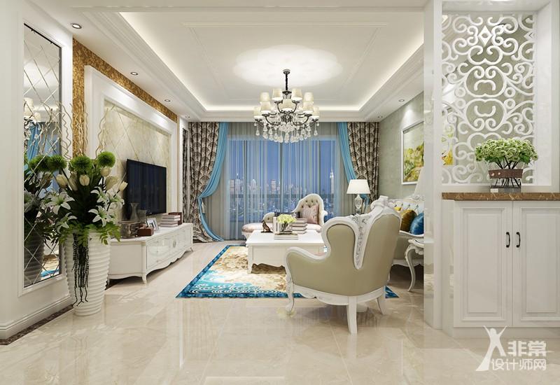 《清新简欧》扬州香榭里140平简欧风格4居室装修设计案例