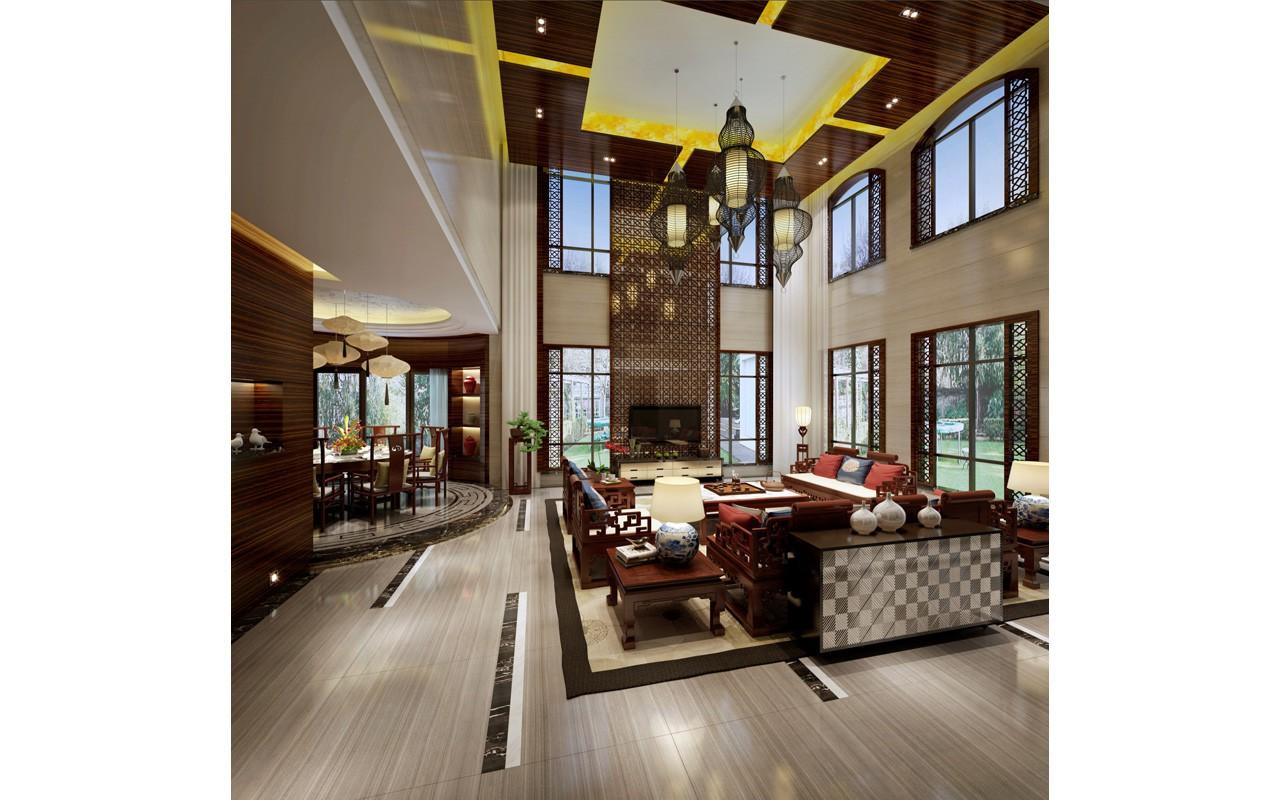 文华权设计--蓝山锦湾中式别墅