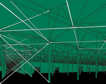 西安大华纱厂改造项目——旧屋架结构加固