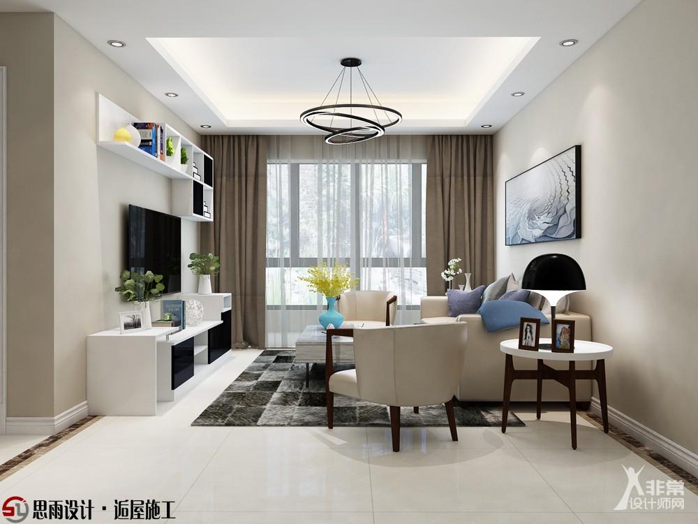 【思雨设计&逅屋施工】《现代生活》扬州碧桂园128平现代风格3居室装修设计图