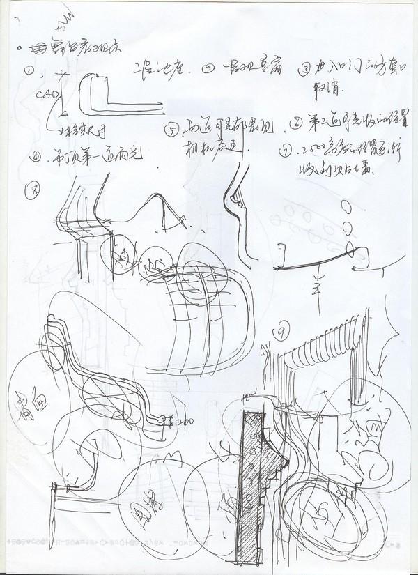 北京天桥艺术中心文化1600座剧场手绘草图