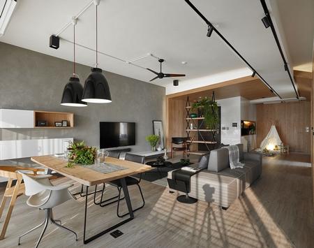 台湾一个公寓,专门为孩子设计了一个娱乐空间