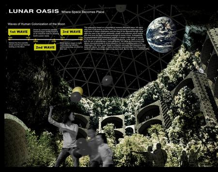 9大月球建筑设计愿景,人类还是要统治月球了