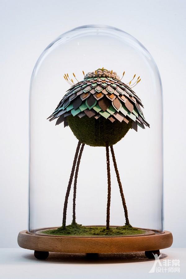混合不同的植物元素,打造全新物种雕塑