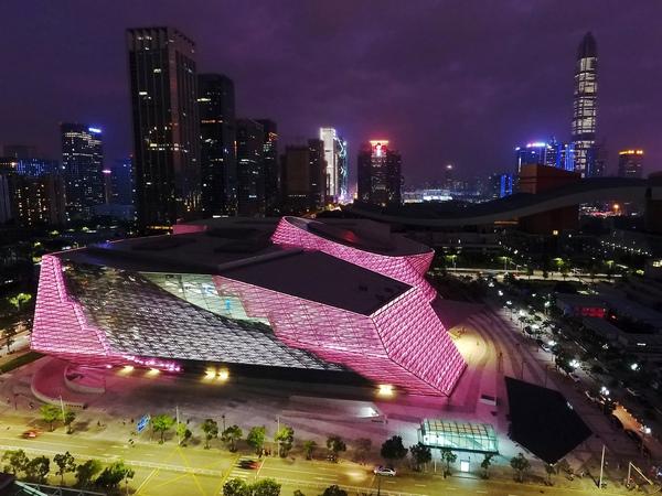 深圳当代艺术馆及城市规划展览馆建筑灯光设计