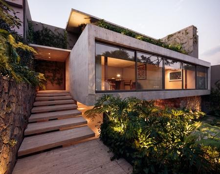 这个建筑从头到脚全是窗,还有点绿色植物
