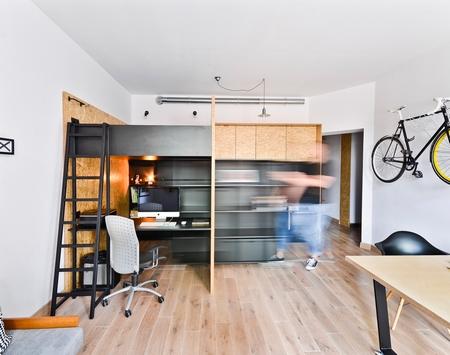 可居住可工作,这个公寓很温馨
