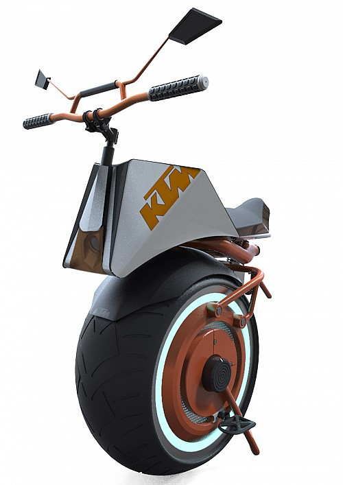 纯电动独轮摩托车KTM Unicycle