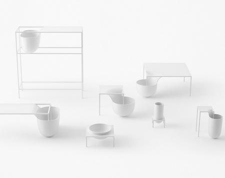 将桌面融化成一个碗,流线型设计的美