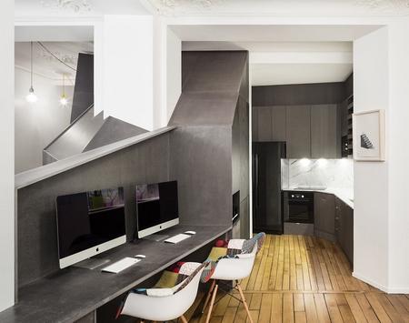不规则的几何结构充满了这间巴黎的小公寓