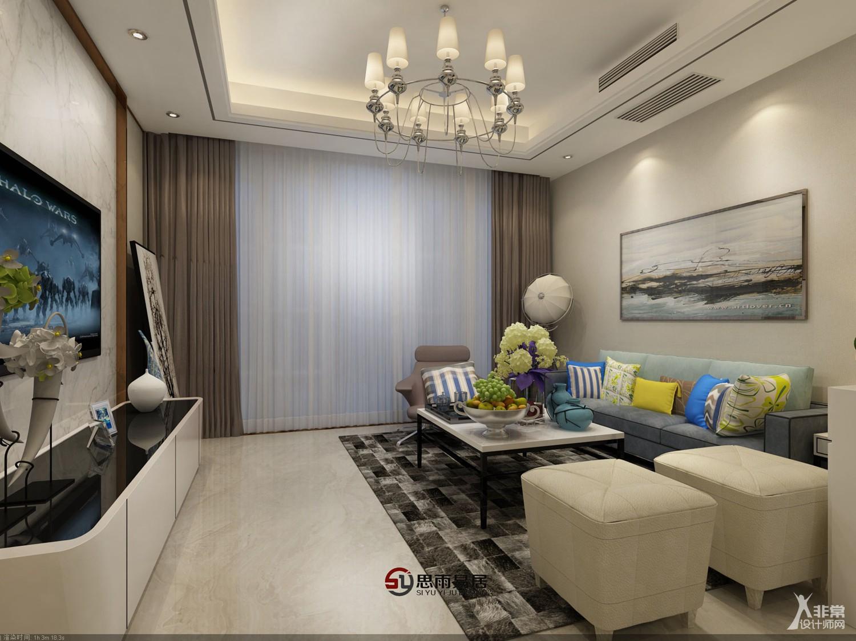 北京智能建筑展_扬州君悦华府108平方米3居室现代风格装修案例《静》 - 非常设计 ...