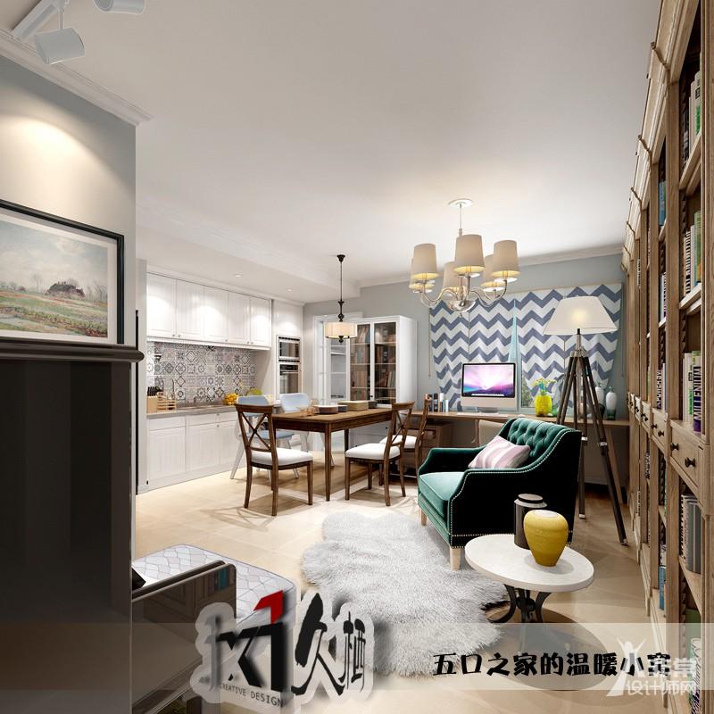 【久栖设计】北京融泽嘉园 五口之家的温暖小窝