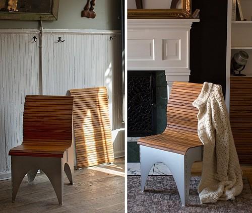 灵感来自于折纸的Ollie创意折叠椅